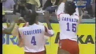Brasil vs Cuba Final Mundial de voley 1994 ( set 3)