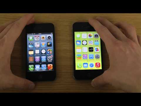 iPhone 4 iOS 7 vs. iPhone 4 iOS 6 - Opening Apps Speed Test