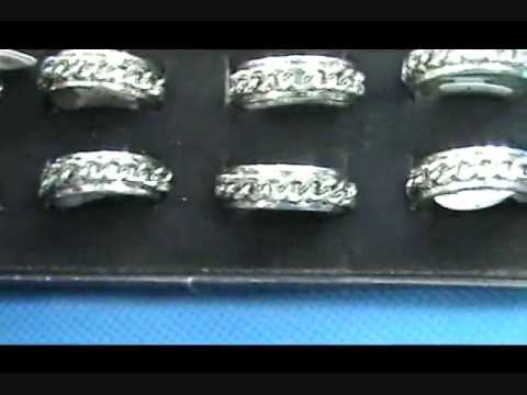 0 316L Stainless Steel Chain Spinner Ring Band wholesalesarong.com