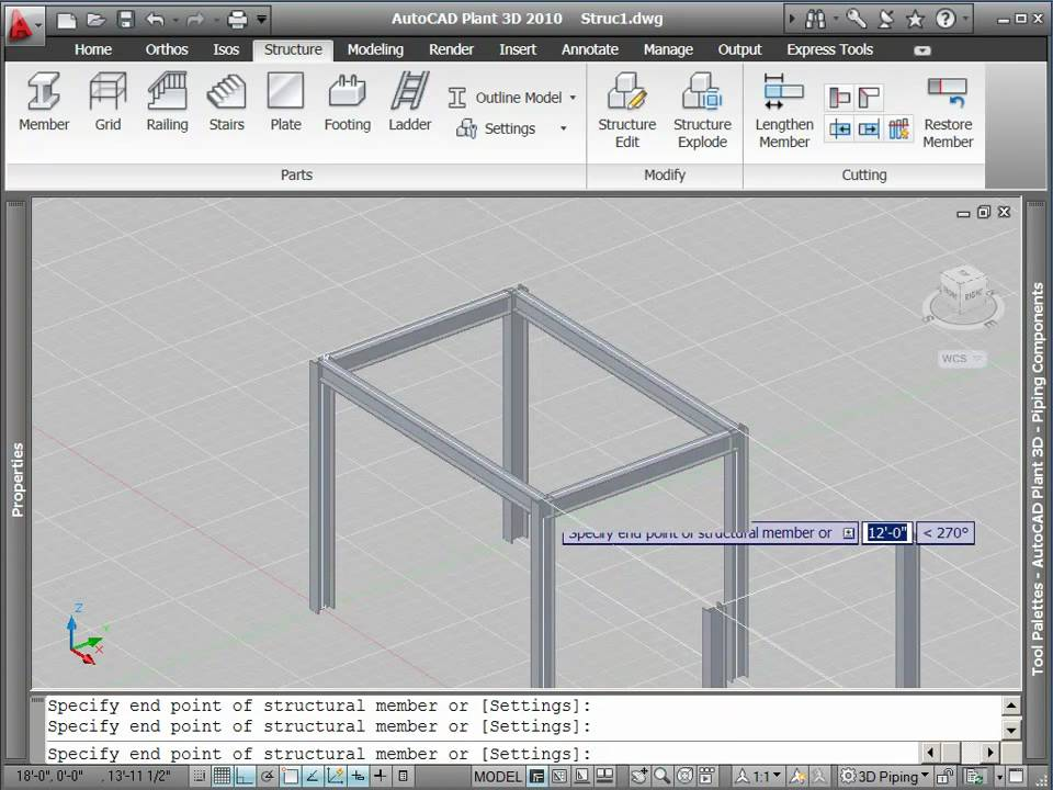 Autocad Plant 3d Tutorial How To Create Structural