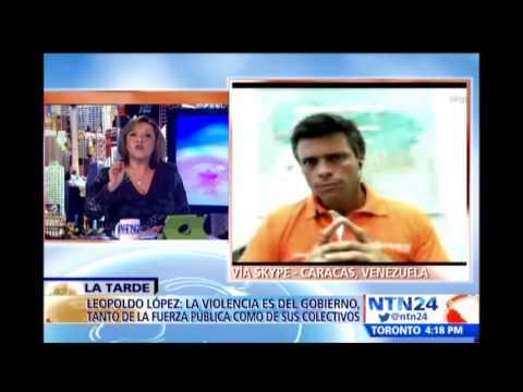 Leopoldo López habla en NTN24 luego de las marchas en Venezuela que dejan al menos un muerto