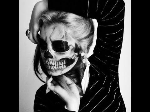 Lady Gaga Born This Way Skeleton Makeup Tutorial
