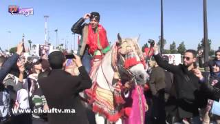 بالفيديو.. إيهاب أمير عريس راكب فوق العود في مطار محمد الخامس | خارج البلاطو