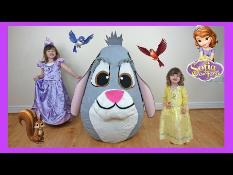 NEW Disney Junior Videos SOFIA THE FIRST Super Giant Surprise Egg WORLDS BIGGEST Play Doh KINDER EGG