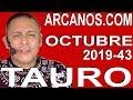 Video Horóscopo Semanal TAURO  del 20 al 26 Octubre 2019 (Semana 2019-43) (Lectura del Tarot)