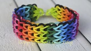 How To Make A Multicolor Rainbow Loom, Triple Single