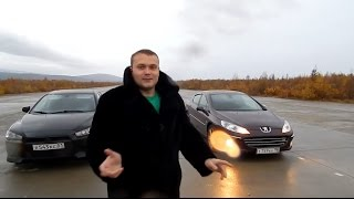 Peugeot 407 160 hp vs Mitsubishi Lancer 10 150 hp. Миша Яковлев