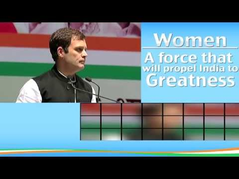 Rahul Gandhi for Women Empowerment