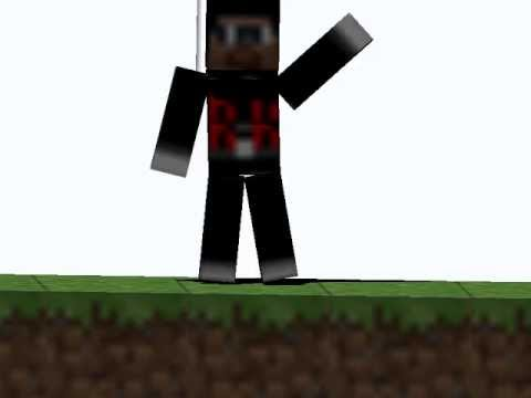 Walking & Wave Animation  in blender(Minecraft)