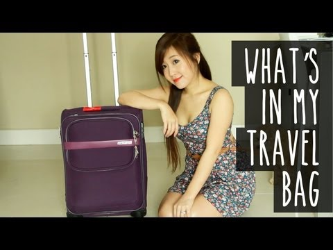 What's In My Travel Bag (Makeup, Skincare & Outfits)