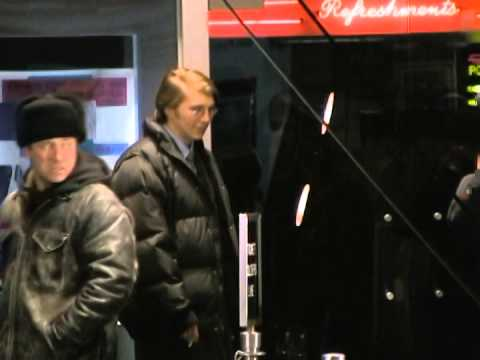 Paul Dano smoking a cigarette between takes on location of The Extra Man in NY!