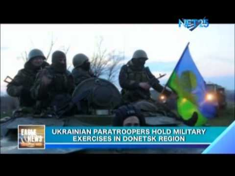 Ukrainian paratroopers hold military exercises in Donetsk region