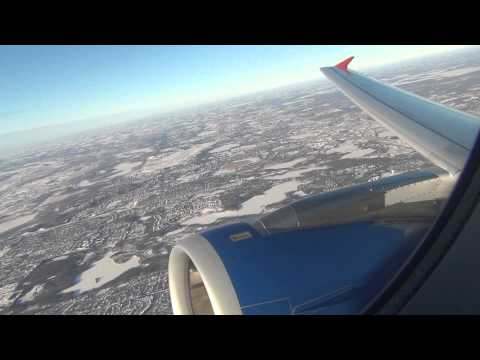 *Onboard* Spirit Airlines A320 Winter Takeoff Minneapolis International HD