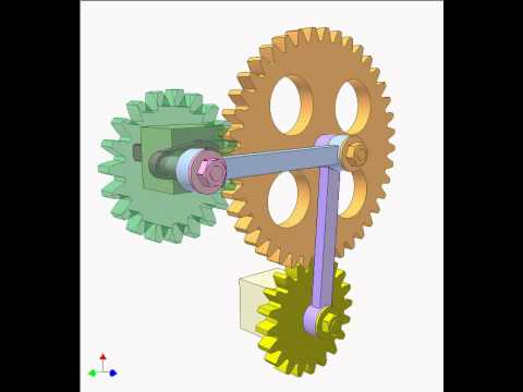 Gear and linkage mechanism 12