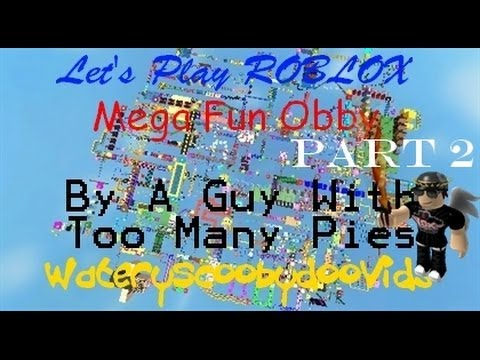 Let's Play ROBLOX - Mega Fun Obby - Part 2!