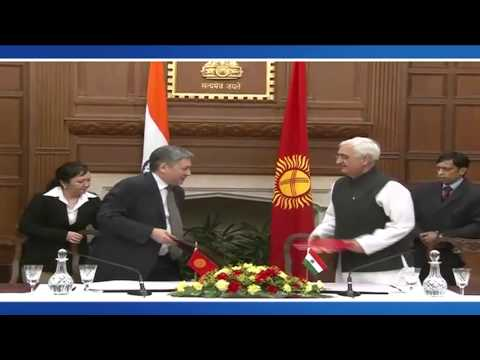 Edited-Official Visit of the Foreign Minister of the Kyrgyz Republic to India-Signing of Agreements