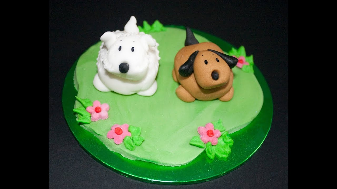 How To Make A Collie Dog Out Of Icing