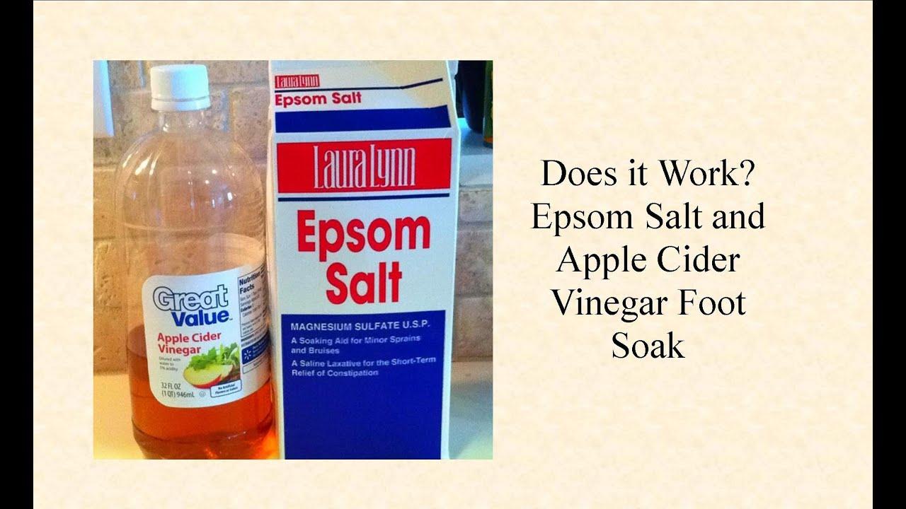 does it work epsom salt and apple cider vinegar foot soak youtube. Black Bedroom Furniture Sets. Home Design Ideas