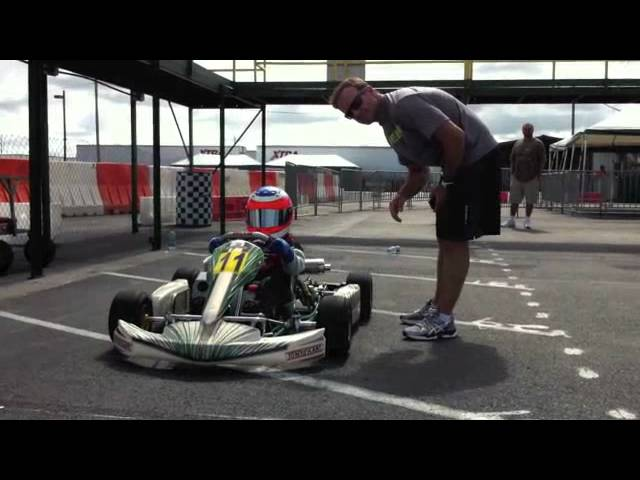 Rubens Barrichello coaching his sons at Orlando Kart Center