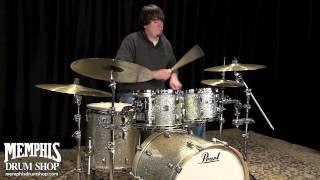Pearl Masters BCX Birch Drum Set 22/10/12/16 Silver