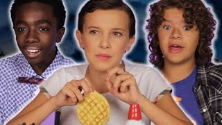 "The Cast Of ""Stranger Things"" Reveal Set Secrets (While Decorating Waffles)"