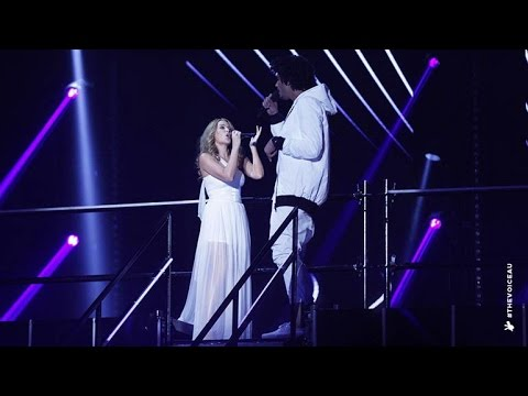 Kylie Minogue and Johnny Rollins sing Can't Get You Out Of My Head | The Voice Australia 2014
