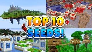 TOP 10 BEST SEEDS for Minecraft! (Pocket Edition, Xbox, Windows 10)