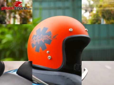 Mũ Bảo Hiểm 3/4 Dammtrax srat cam đen và Đỏ Đen Nhám phuotstore.net