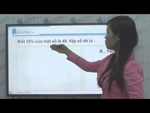 [Toán tiểu học][Toán 5, Toán lớp 5]-Giải toán về tỉ số phần trăm-- [Lika-K12school]