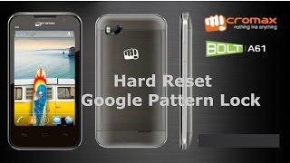 How To Hard Reset Micromax Bolt A61 Unlock Google