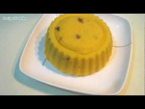 Eggless Microwave Mango Fruit Cake
