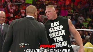 WWE RAW 7/21/14 Results/Highlights & Review, John Cena Vs