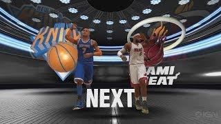 NBA 2K14 PS4- Miami Heat Vs. New York Knicks