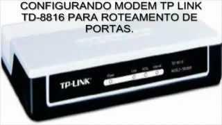 TP-LINK TD 8816 Configurando Roteamento De Portas