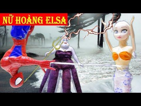 Siêu nhân Người Nhện cứu Nữ hoàng băng giá Elsa thoát chết khỏi Ursula - Seri Nàng tiên cá Tập 1
