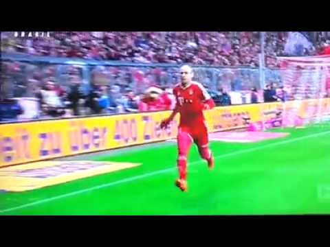 Robben EPIC FAIL CELEBRATION funny