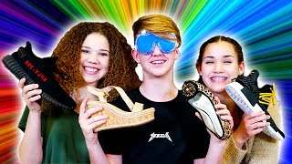 GUESS THE SHOE... PRANK! (MattyBRaps vs Gracie & Madison Haschak)