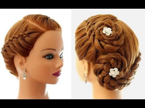 Updo Hairstyles For Long Hair Youtube : ... for everyday (4 Strand Braid). Updo hairstyles for long hair - YouTube