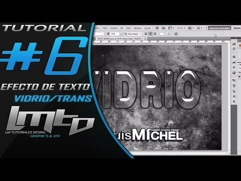Tutorial Photoshop CS6 CS5: Efecto de Texto Vidrio / Transparencia