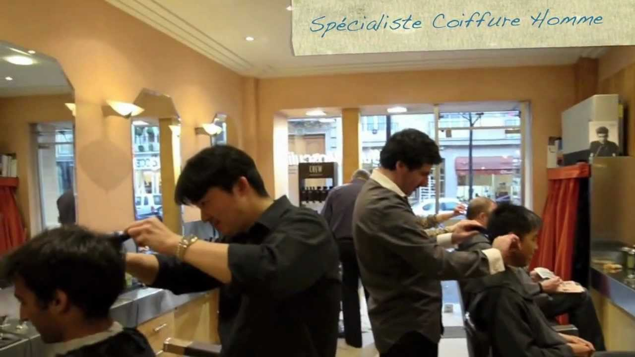 Un tr s bon salon de coiffure homme paris youtube for Salon de coiffure martigues