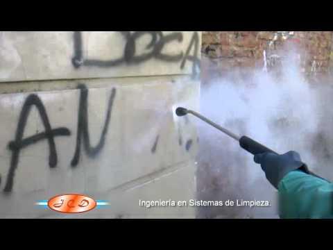 Sistema de remoción de graffitis, protección de fachadas