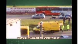 Motociclista morre em acidente na BR-381, em Betim