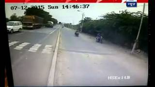 Shocking CCTV footage: Tanker crushes bike borne family; 4 die
