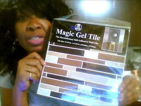 Family Dollar Store Magic Gel Tile Kitchen Wall Makeover Youtube