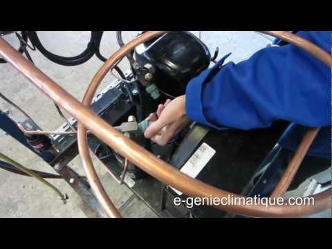 Froid50-Montage2-groupe hermétique-Réglage Pressostat BP pump down et HPsécurité