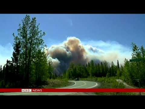 BBC News: Fires rage in Alaska and Arizona