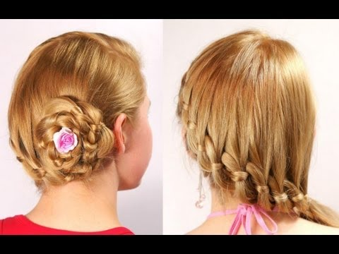 Braid Hairstyles For Long Hair Youtube : French 4-strand braid. Prom wedding hairstyles for long hair - YouTube