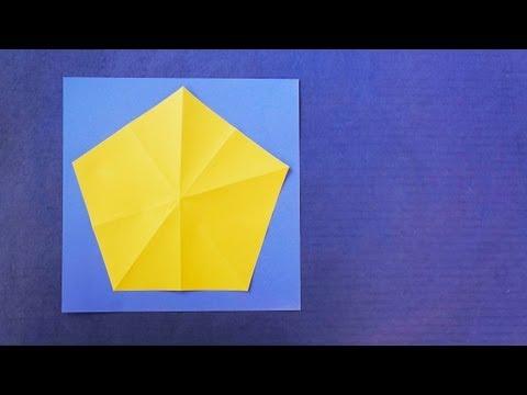 How to make a pentagon from a square :: Pentágono a partir de un cuadrado
