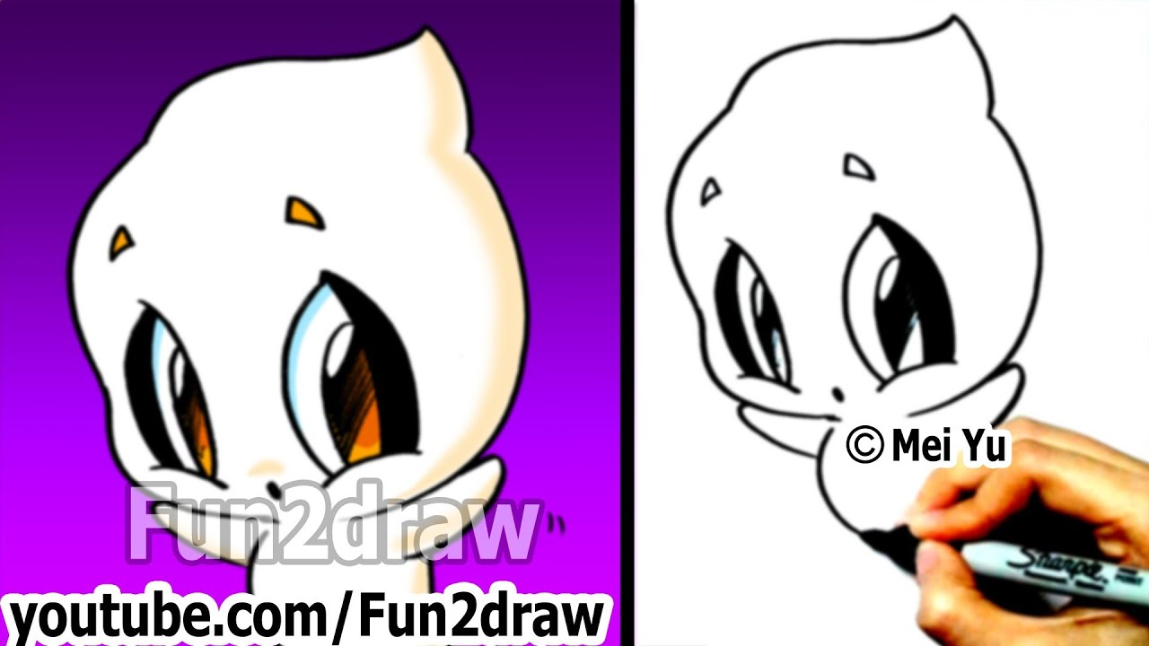 How to draw halloween stuff how to draw a ghost easy drawing step