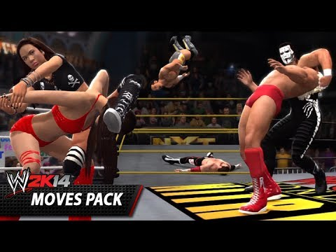 WWE 2K14: Moves Pack Gameplay! (35 New Moves!)